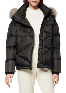 Andrew Marc Artistic Puffer Jacket with Genuine Fox Fur Trim