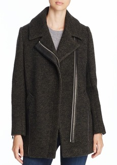 Andrew Marc Asymmetric Knitted Wool Coat