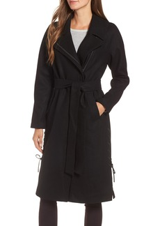 Andrew Marc Baylee Asymmetrical Wool Blend Coat