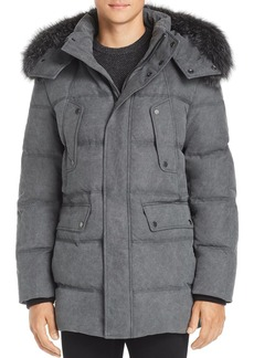 Andrew Marc Rockland Fox Fur Trim Quilted Parka