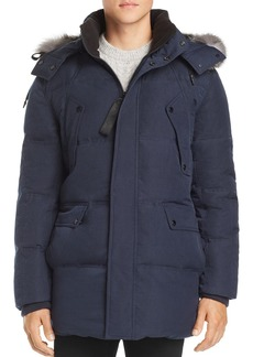 Andrew Marc Belmont Fox Fur-Trimmed Quilted Parka