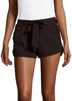MARC NEW YORK by ANDREW MARC Performance Belted Solid Shorts