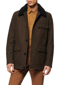 Andrew Marc Benito Wool Blend Coat with Detachable Collar