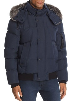 Andrew Marc Bennett Fox Fur-Trimmed Puffer Jacket