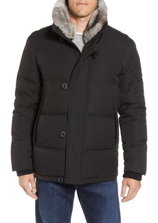 Andrew Marc Bryant Genuine Rabbit Fur Trim Down Jacket