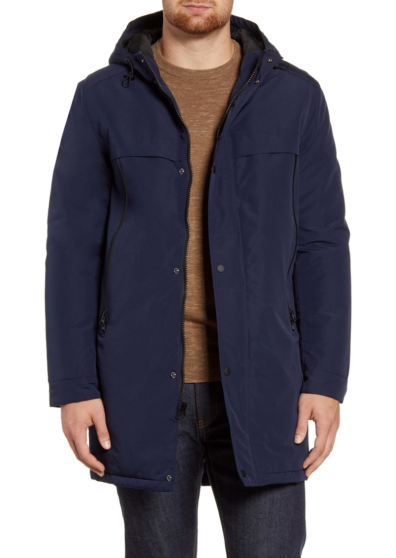 Andrew Marc Cagney Water Resistant Hooded Coat