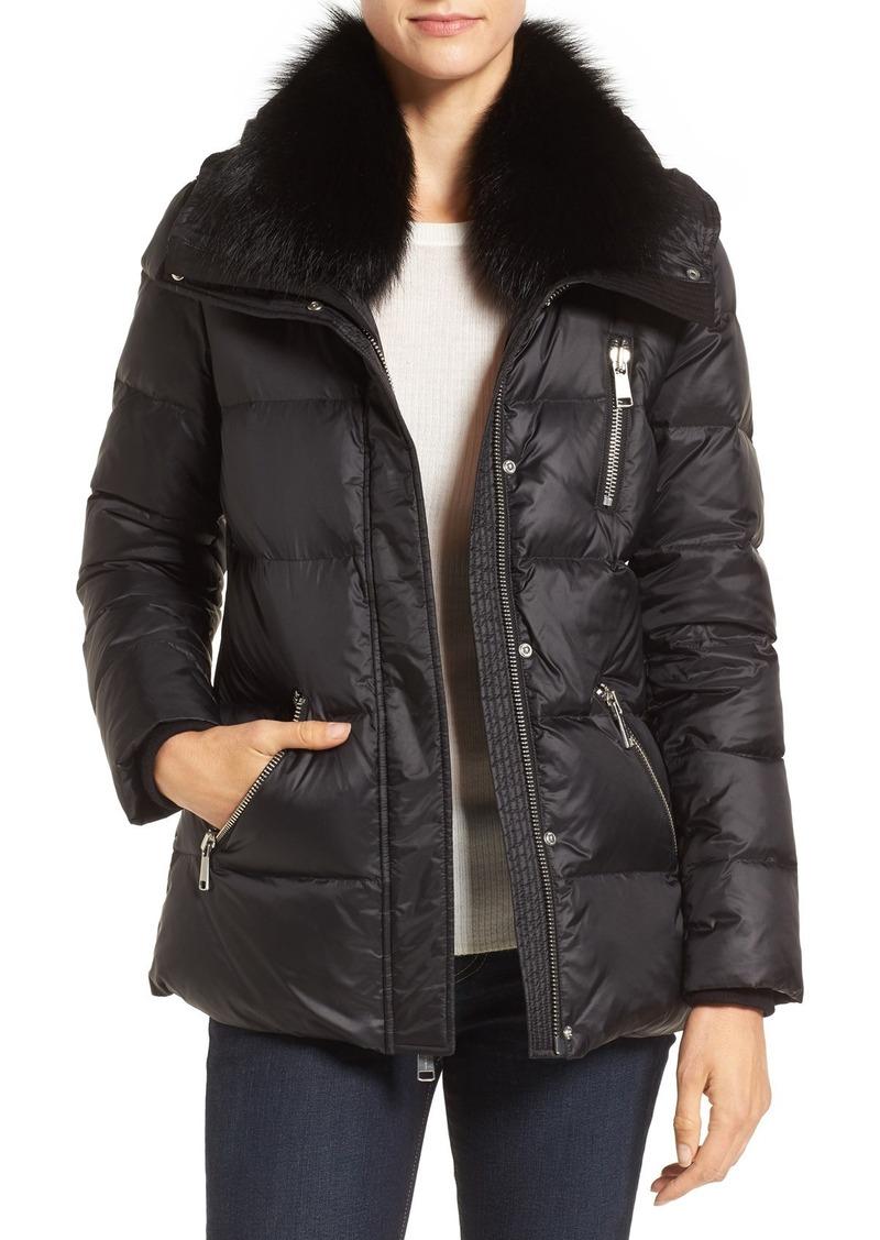 Andrew Marc 'Chloe' Down Coat with Genuine Fox Fur Trim