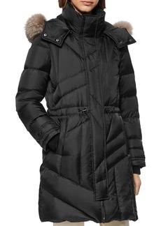Andrew Marc Cresskill Fur Trim Puffer Coat