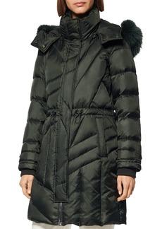 Andrew Marc Cresskill Fur-Trim Puffer Coat