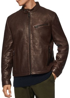 Andrew Marc Cumberland Leather Moto Jacket