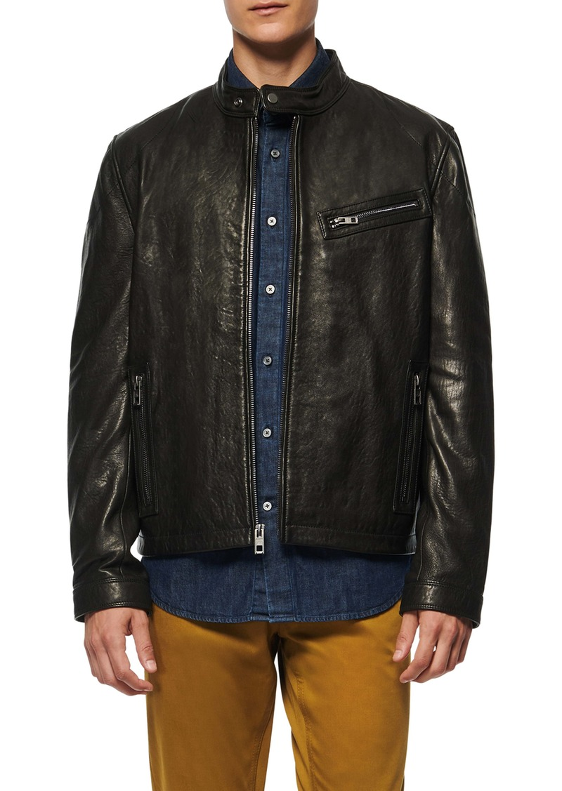 Andrew Marc Cumberland Leather Racer Jacket