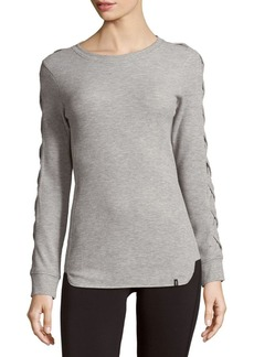 Andrew Marc Curved Hem Knitted Top
