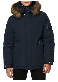 Andrew Marc Daytona Faux Fur Trim Hooded Down Snorkel Jacket
