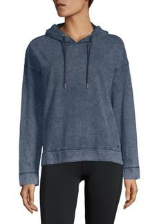 Andrew Marc Denim Hooded Sweatshirt