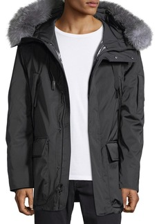 Andrew Marc Explorer Waterproof Fur-Trimmed Parka Coat