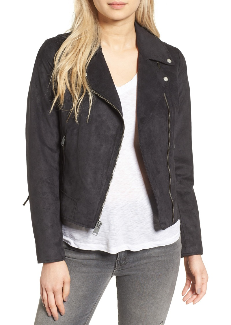 Andrew Marc Farryn Side Lace Faux Suede Jacket