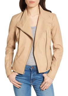 Andrew Marc Felicia Asymmetrical Zip Leather Jacket