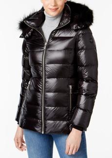 Andrew Marc Fox-Fur-Trim Hooded Puffer Coat