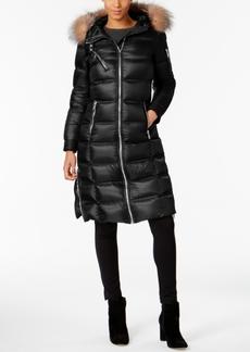 Andrew Marc Fox-Fur-Trimmed Maxi Puffer Coat
