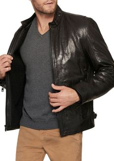 Andrew Marc French Supple Leather Racer Motorcycle Jacket
