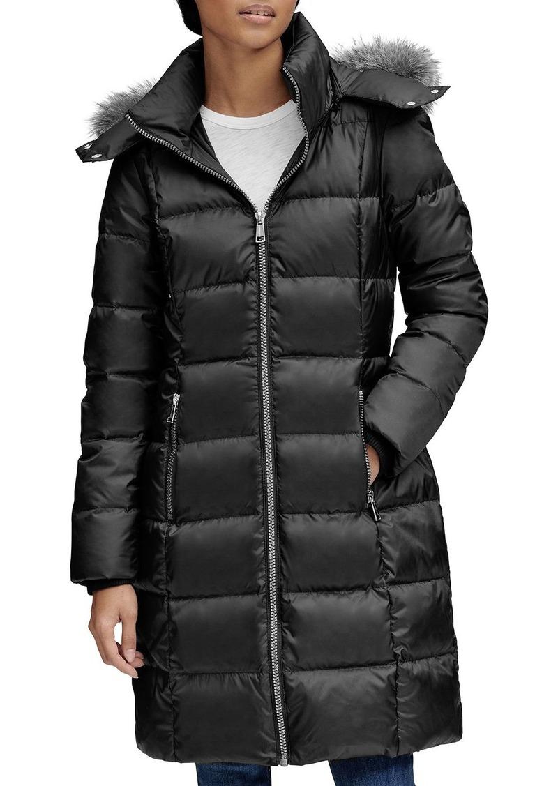 Andrew Marc Fur-Trim Puffer Coat