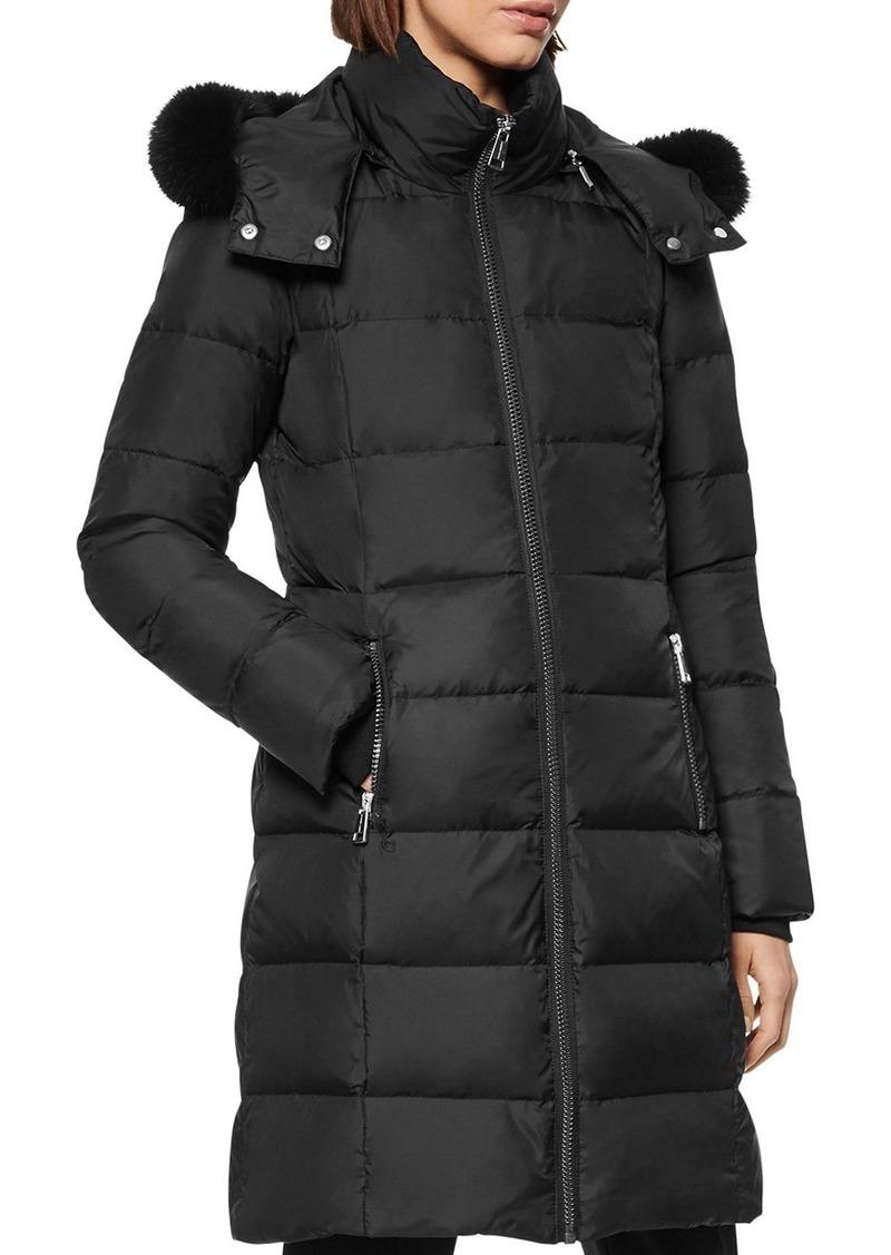 Andrew Marc Fur-Trim Quilted Coat