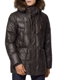 Andrew Marc Galveston Quilted Faux Fur Trimmed Hood Down Parka