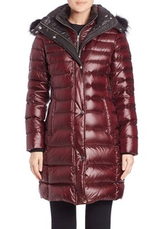 Andrew Marc Gayle Fox Fur-Trimmed Puffer Coat