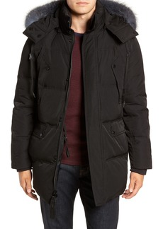 Andrew Marc Genuine Fox Fur Trim Down Parka