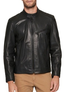 Andrew Marc Gibson Leather Motorcycle Jacket