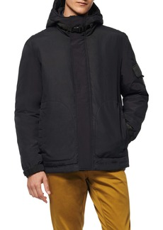 Andrew Marc Greiggs Utility Down Hooded Jacket