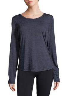 Andrew Marc Heather Hi-Lo Sweatshirt