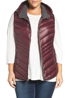 Andrew Marc Hooded Down Vest (Plus Size)