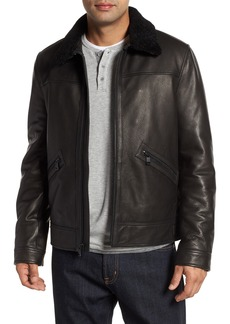 Andrew Marc Kilmer Genuine Shearling Bomber Jacket