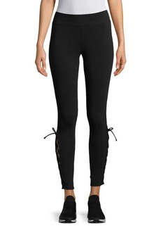 Andrew Marc Lace-Up Leggings