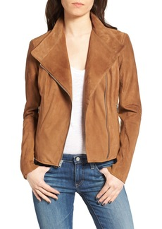 Andrew Marc Laney Lightweight Suede Crop Jacket