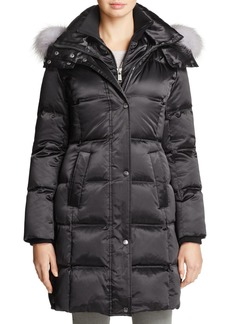 Andrew Marc Leven Fur Trim Down Coat