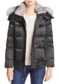 Andrew Marc Lillie Rabbit & Fox Fur Trim Down Coat