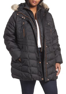 Andrew Marc Marley Down Coat with Detachable Faux Fur (Plus Size)