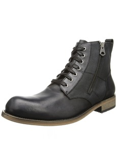 Andrew Marc Men's Forest Lace-up Boot Hammered/W.Grey/Deep Natural/Black