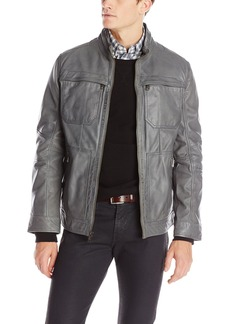 Andrew Marc Men's Gale Leather Moto Jacket