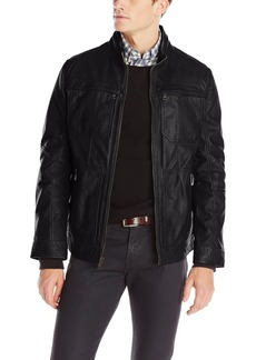 Andrew Marc Men's Gale Leather Moto Jacket