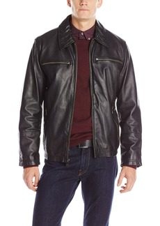 Andrew Marc Men's Garner Leather Moto Jacket