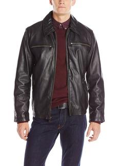 Andrew Marc Men's Garner Leather Moto Jacket