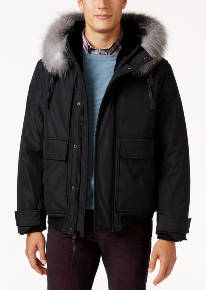 Andrew Marc Men's Hooded Fur Lined Imperial Jacket