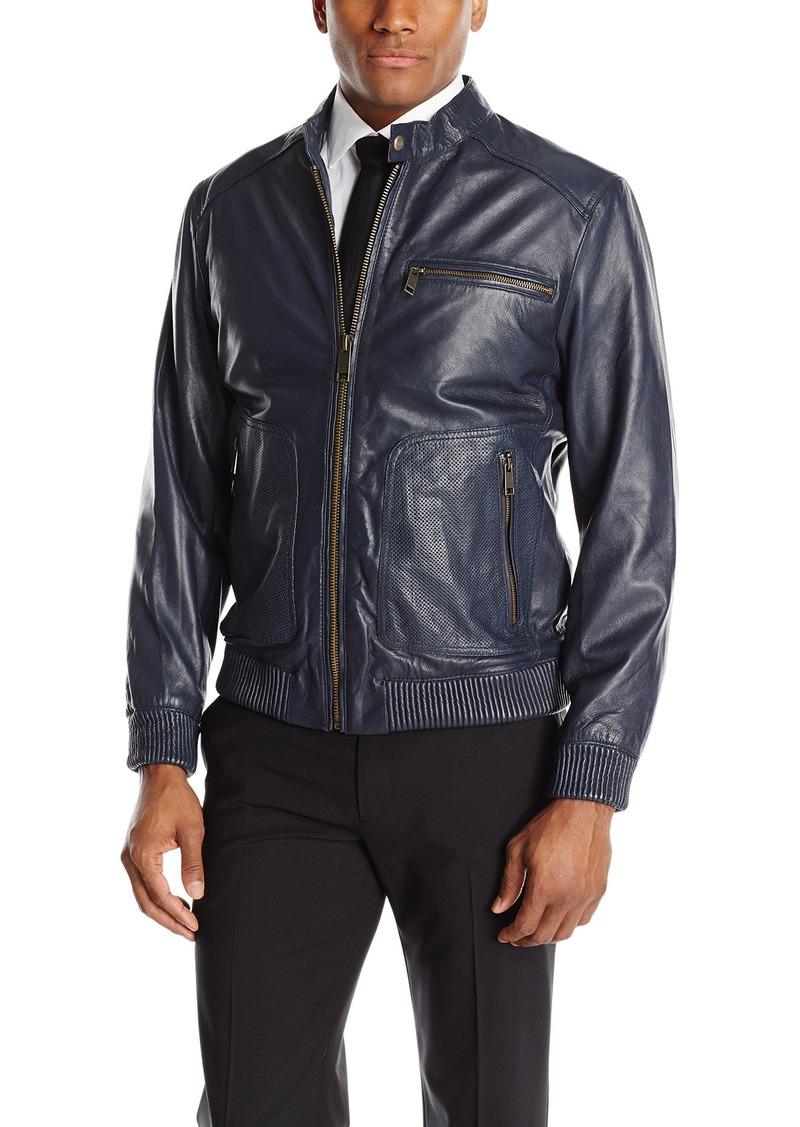 Andrew Marc Men's Leather Bomber Jacket