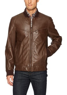 "Andrew Marc Men's Martense-26.5"" Sheep Bomber Jacket"