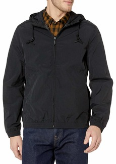 Andrew Marc Men's Rogers-27 Crinkle Shell Hooded Bomber Jacket