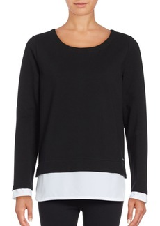 Andrew Marc Mock Layer Pullover