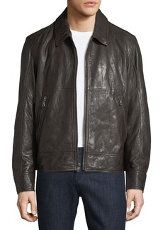 Andrew Marc Morrison Lambskin Leather Jacket